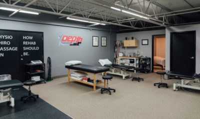 Depth physiotherapy clinic treatment space