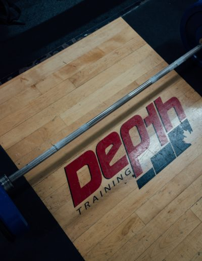 Depth platform and weight bar