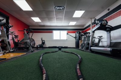 Depth battle ropes and turf